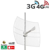 Антенна параболическая 3G/WiFi/4G, 24 дБ. (1700-2700 МГц)