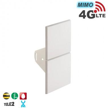 Антенна панельная 4G LTE, MIMO 14 дБ. (2400-2700 МГц)