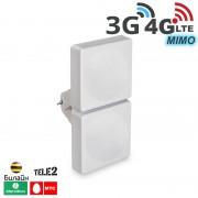 Антенна мультистандартная панельная 2G/ 3G  4G/ 4G+ (LTE - A), MIMO 15 дБ. (750-2900 МГц)