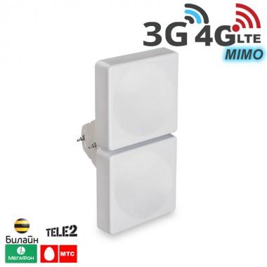 Антенна мультистандартная, MIMO усил. 15 дБ 2G/ 3G 4G/ 4G+ (LTE - A)  (750-2900 МГц)