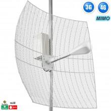 Антенна параболическая 3G/WiFi/4G,  гермобокс, MIMO 27 дБ. (1700-2700 МГц)