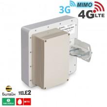 Антенна панельная 3G / 4G LTE, MIMO, BOX 15 дБ. (1700-2700 МГц)
