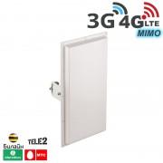 Антенна панельная 3G / 4G LTE, MIMO 18 дБ. (1700-2700 МГц)