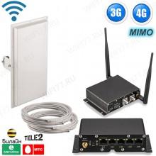 3G + 4G LTE интернет комплект для дома / дачи - ОПТИМАЛЬНЫЙ ЗАГОРОД с поддержкой двух SIM-карт
