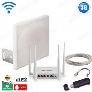 3G интернет комплект для дома / дачи - ОПТИМАЛЬНЫЙ ЗАГОРОД