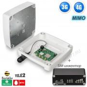 3G + 4G LTE интернет комплект для дачи / офиса на 2 SIM карты - с поддержкой SIM-инжектора