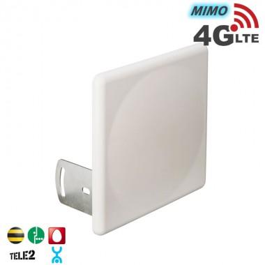 Панельная антенна 4G LTE, MIMO 16 дБ (2400-2700 МГц)
