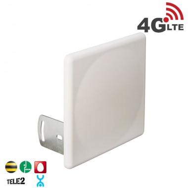 Антенна панельная 4G LTE,  усиление 18 дБ. (2400-2700 МГц)