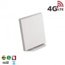 Антенна комнатная панельная 4G LTE, 14 дБ (2400-2700 МГц)
