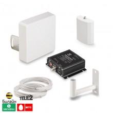 GSM 1800 + 4G комплект усиления сотовой связи и интернет - ПРИГОРОД (до 200 м2)