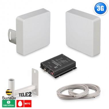 Готовый комплект усиления сигнала сотовой связи GSM, 2100 (3G), LTE (4G)  (1800-2100)