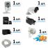 Комплект видеонаблюдения через интернет для дачи / дома с усилителем сигнала 4G